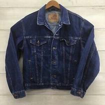 Levis Mens Blue Denim Truckers Jacket 70506-216 Men Size Xl 42 Excellent Photo