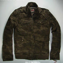 Levis Mens Camo Military Bomber Jacket Medium Nwt Photo