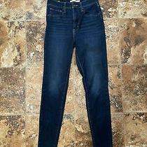 Levis Mile High Super Skinny 27 X 30 Women's Blue Jeans Photo