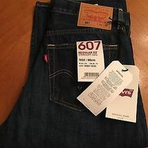 Levis's 607 Regular Straight Jeans Feature a Straight Cut Looser Seat 32x30 Nwt Photo