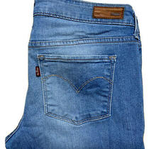 Levis Size 29 Slight Curve Modern Rise Skinny Blue Fade Jeans Photo