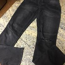 Levis Skinny 524  Black Distressed Low Rise Jeans 28x32 Size 3 Photo