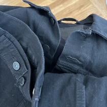 Levis Vintage Black Jeans Jacket Size L Photo