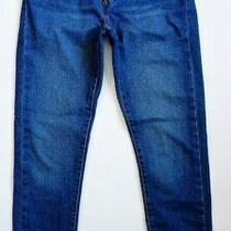 Levis Wedgie Skinny Medium Blue Jeans High Rise Button Fly Stretch 27 Ankle Photo