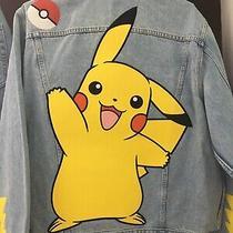 Levis X Pokemon Pikachu Blue Denim Trucker Size Large Photo