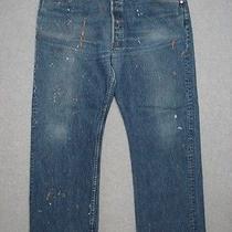 Lh01413 Cool Levi's 501 Classic Fit Jeans 40x30 Paint Splatter Photo