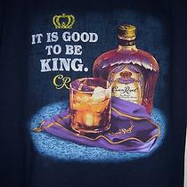Licensed Crown Royal T Shirt It's Good to Be King Blue / Black Xl Bottle Bag  Photo