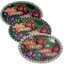 Licensed True Love Ed Hardy Belt Buckle  Photo