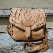 Liebeskind Berlin Distressed Leather Crossbody Messenger Handbag Boho Hobo Hippi Photo