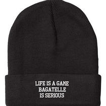 Life Is a Game Bagatelle Serious Embroidered Beanie Cap Photo