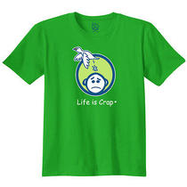 Life Is Crap - Bird Poop Printed Adult T-Shirt Photo