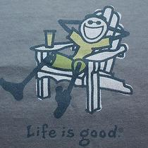 Life Is Good Adirondack Chair S/s Crusher T Shirt Nwt Small Shadow Blue Photo