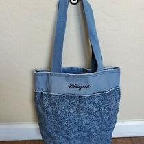 Life Is Good Blue Floral Tote Bag Photo