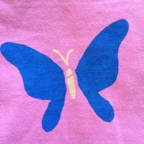 Life Is Good Elemental Butterfly on Peony Xsml Womens S/s Semi Fitted Vtee Nwt Photo