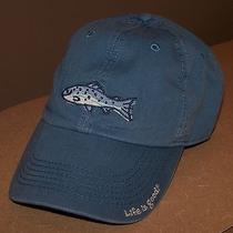 Life Is Good Fish Chill Cap Fishing Hat Blue Unisex Photo