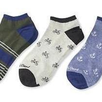 Life Is Good Men's 3-Pack Low Cut Socks Bikes and Anchors Blue One Size Photo