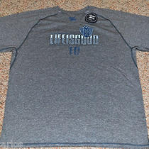 Life Is Good Men T-Shirt Size Large - Heather Gray Photo