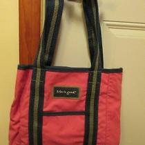 Life Is Good Pink and Blue Medium Size Canval Tote - Great Condtion - Photo