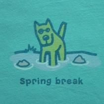 Life Is Good Spring Break Size M Women's S/s T-Shirt Rocket Dog Photo