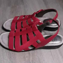Life Stride Theory Red Strappy Sandals - Size 8.5 Nwob Minor Flaw Orig. 60 Photo