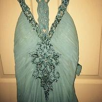 Light Blue Blush Prom Dress Photo