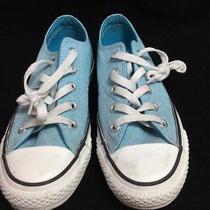 Light Blue Converse Low Tops  Photo