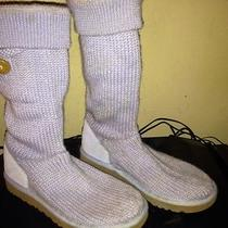 Light Blue Crochet Knit Uggs Photo