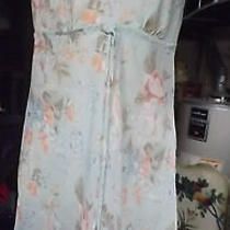 Light Blue Floral Nighty Size Med. Victoria's Secret  Lingerie   Photo