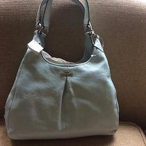 Light Blue Leather Coach Purse Photo