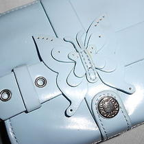 Light Blue Xoxo Clutch Wrist Purse Butterflies Very Cute Photo