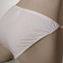 Light Blush Pink Jacquard N Lace String Bikini Panties Tanga Knickers Uk 10 S Photo