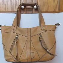 Light  Brown Leather Fossil Hobo Bag Shoulderbag Purse Photo