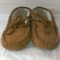 Light Brown Minnetonka Moccasins Size 1 Photo