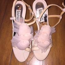 Light Pink Badgley Mischka Wedding Shoes Size 6  Photo