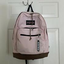 Light Pink Jansport Backpack With 2 Front Pockets Photo