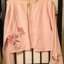 Light Pink Size 7/8 Open Sweater /shrug No Button/ties Neck by K.c. Parker Mint Photo