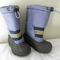 Light Purple Sorel Winter Boots Boys Girls 7 Insulated Snow Chariot With Liner Photo