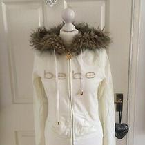 Light Yellow / Off White Bebe Tracksuit Top / Hoodie With Pockets - Size M Photo