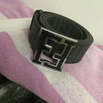 Lightly Used Black Leather Fendi College Belt Size 44/110 Photo