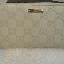 Lightly Used Gucci Leather Wallet Beige Color Photo