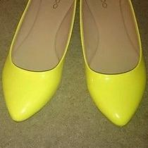 Like New Aldo Yellow Patent Leather Flats Size 10 Photo
