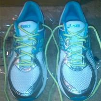 Like New.  Asics Sneakers / Womens Size 9 / White Lime & Aqua Photo