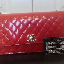 Like New Authentic Chanel Red Patent Bag Small 2012 Photo