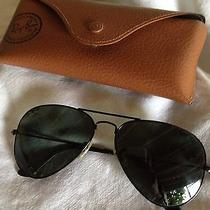 Like New Authentic Ray Ban Rb3025 Aviator Sunglasses With Original Case Photo