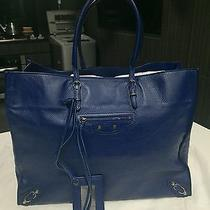 Like New Balenciaga Papier A3 in Electrique Blue Photo