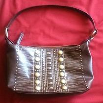 Like-New Bcbg Brown Studded Handbag/purse. Excellent Condition Photo