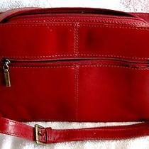 Like-New - Beautiful - Red Leather - Naturalizer Shoulder Bag - Purse - Nice Photo