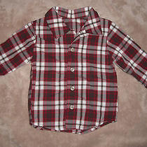 Like New Boy's Carter's Just One You Dress Shirt Red Plaid 12 Months Photo