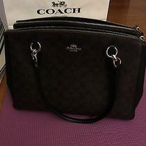Like New Coach Purse. Brown Crossgrain Leather Stanton Carryall Satchel Bag Photo