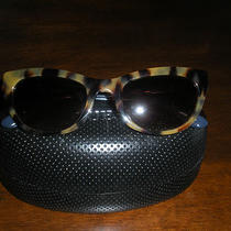 Like New Designer Guess Sun Glasses Cats Eye Blue and Brown Leopard Print 2013 Photo